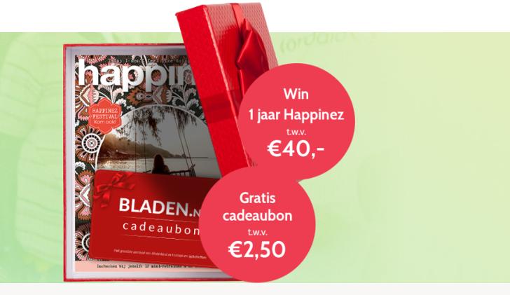 Win Een Happinez Abonnement én Ontvang Een Bladen Cadeaubon
