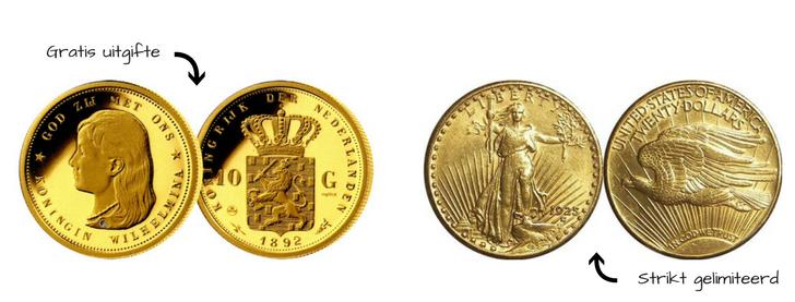Gratis officiële herslag Wilhelminamunt en Double Eagle munt
