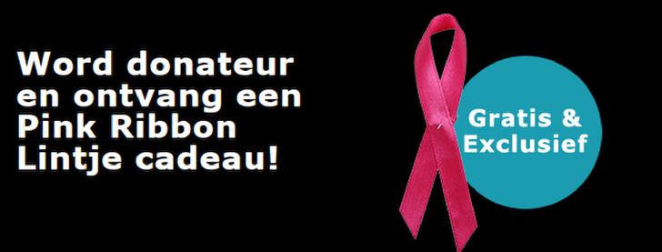 Gratis pink ribbon lintje
