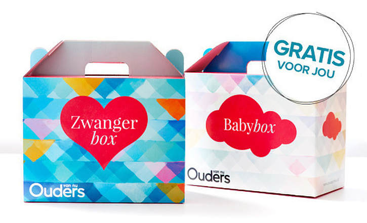 Gratis zwangerbox en babybox