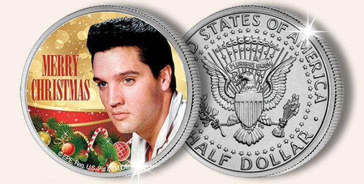 Elvis kerstmunt en Elvis Kerst CD