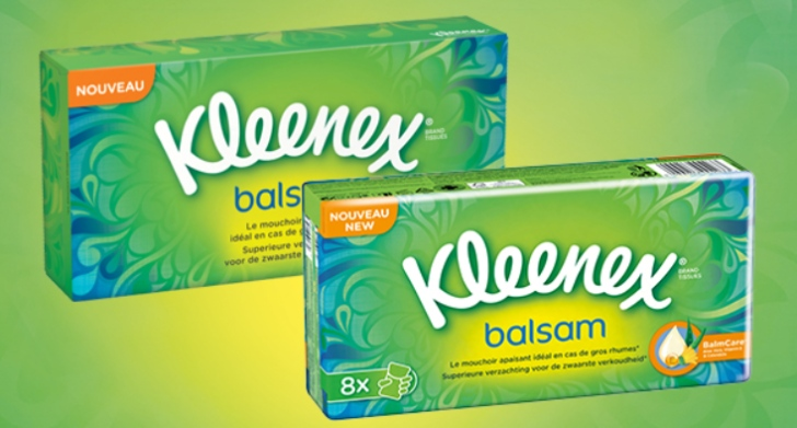 Gratis tissues Kleenex