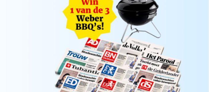 Krantenactie + kans op een Weber BBQ