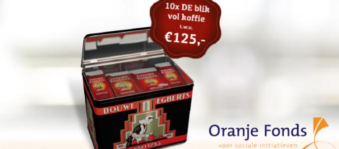 Laatste kans: win een Douwe Egberts blik vol koffie (€ 125)