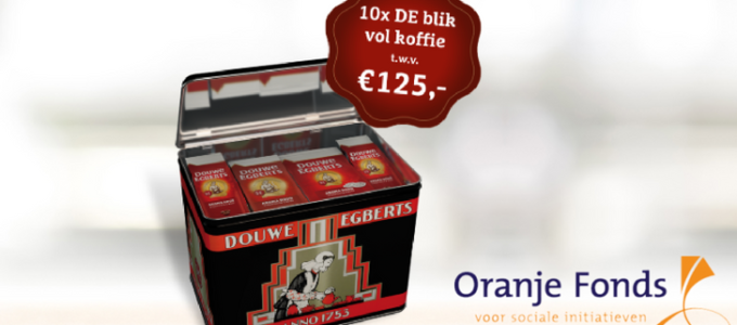 Win een Douwe Egberts blik vol koffie t.w.v. € 125