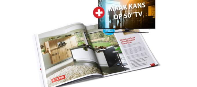 Gratis keukenmagazine plus kans op een 50″ TV
