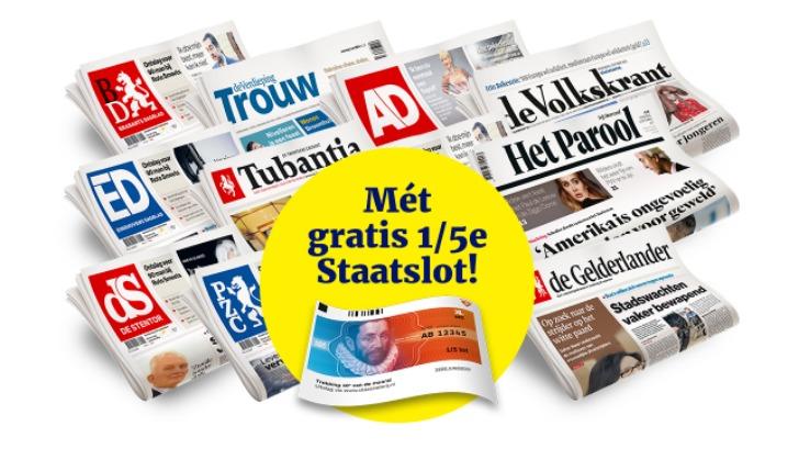 kranten met gratis staatslot
