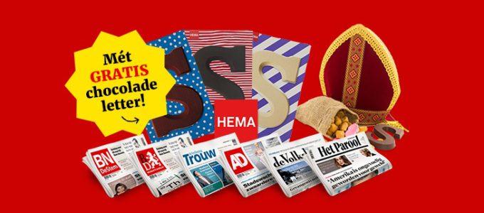 Ontvang 3 weken de krant voor € 3 + gratis chocoladeletter