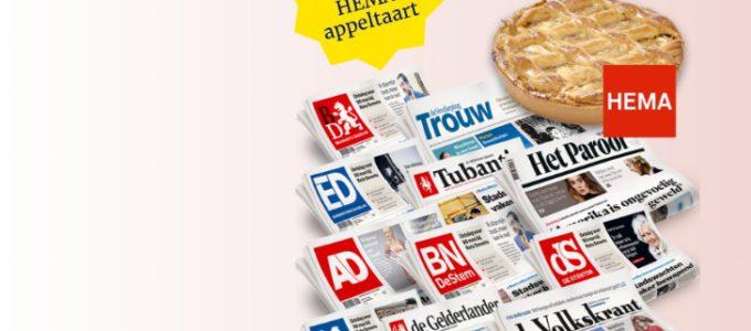 Lees 6 weken de krant voor € 12 + gratis HEMA appeltaart