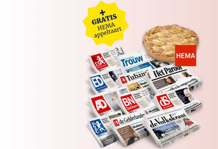 krant en appeltaart