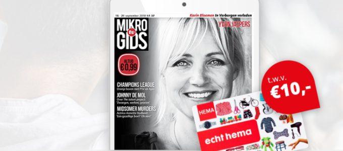 Ontvang gratis de Mikro Gids en win een € 10 HEMA bon