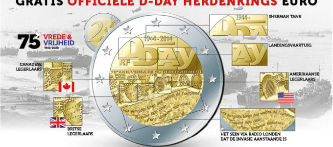 Gratis officiële D-Day herdenkingsmunt