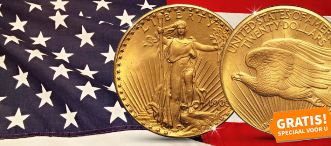 Gratis 1933 Double Eagle USA munt