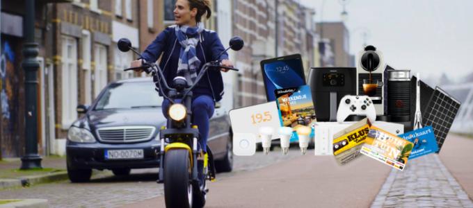 Win een e-scooter of een andere geweldige prijs