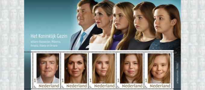 Top deal: officieel postzegelvel Koninklijk Gezin voor € 5