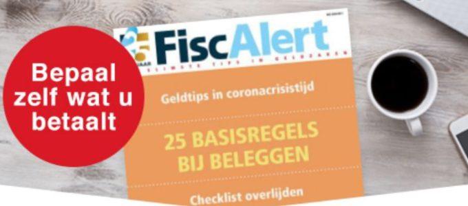 1 jaar gratis FiscAlert magazine: tips over geldzaken