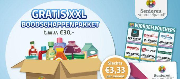 Gratis XXL boodschappenpakket t.w.v. € 30