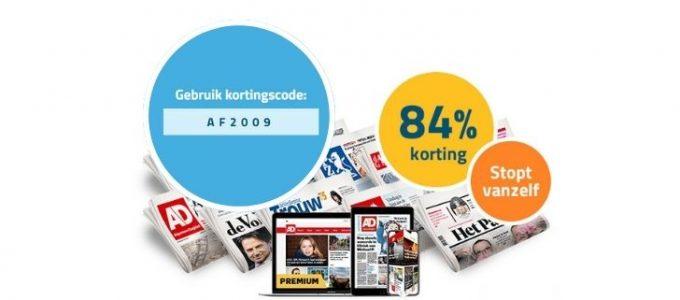 Nergens goedkoper: 6 weken de krant voor € 2