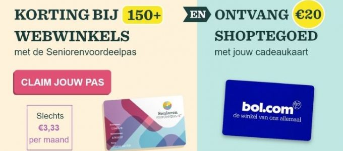 Gratis bol.com shoptegoed + korting bij vele webwinkels