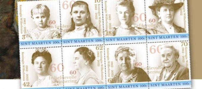 Wilhelmina Jubileumpostzegelvel met 50% korting